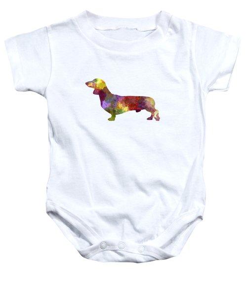 Dachshund In Watercolor Baby Onesie