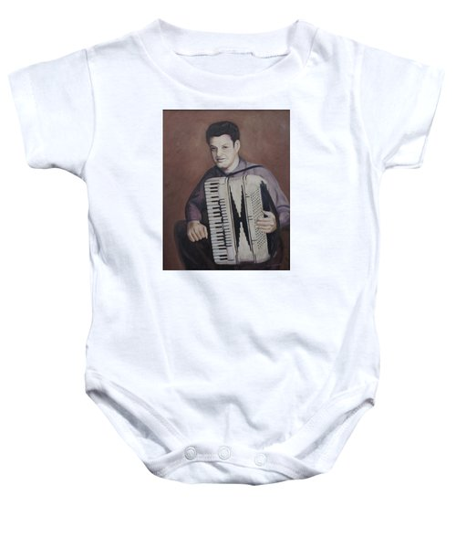 Daddy And His Accordion Baby Onesie