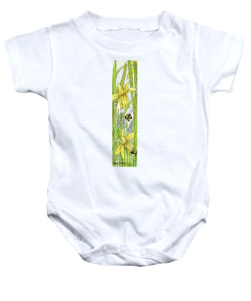 Daffodils And Bees Baby Onesie