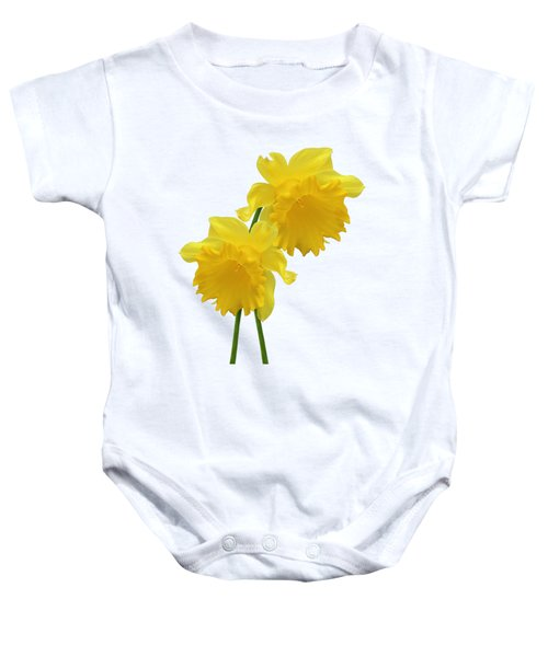Daffodils On White Baby Onesie