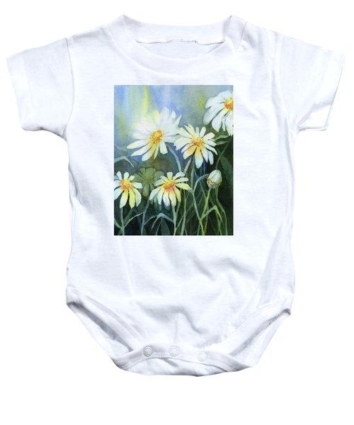 Daisies Flowers  Baby Onesie