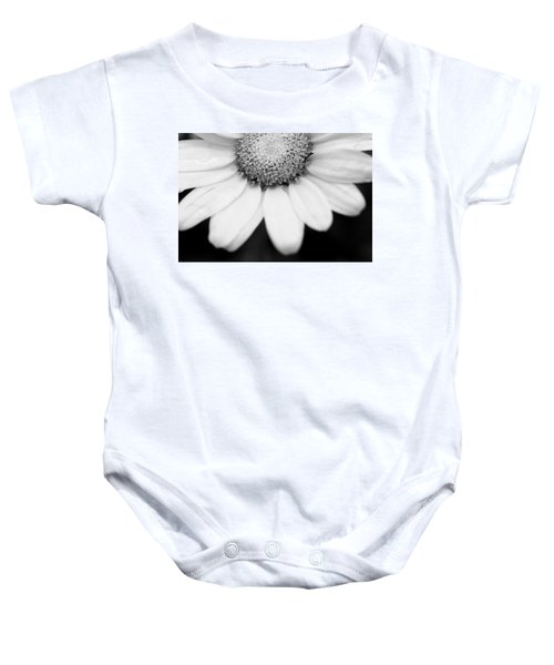 Daisy Smile - Black And White Baby Onesie