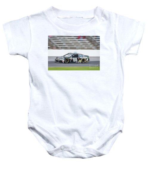 Dale Earnhardt Jr Running Hard At Texas Motor Speedway Baby Onesie