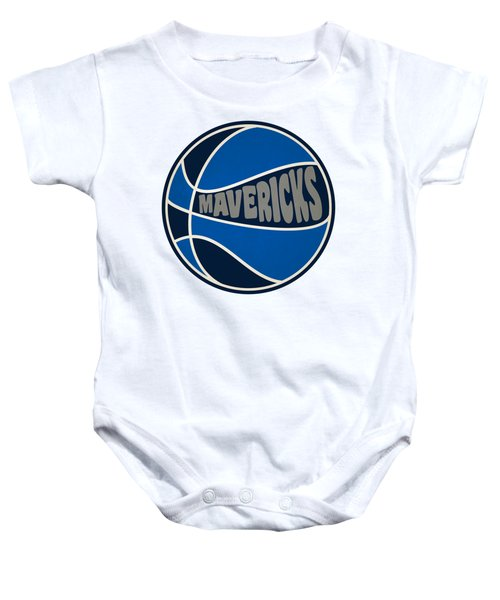 Dallas Mavericks Retro Shirt Baby Onesie by Joe Hamilton