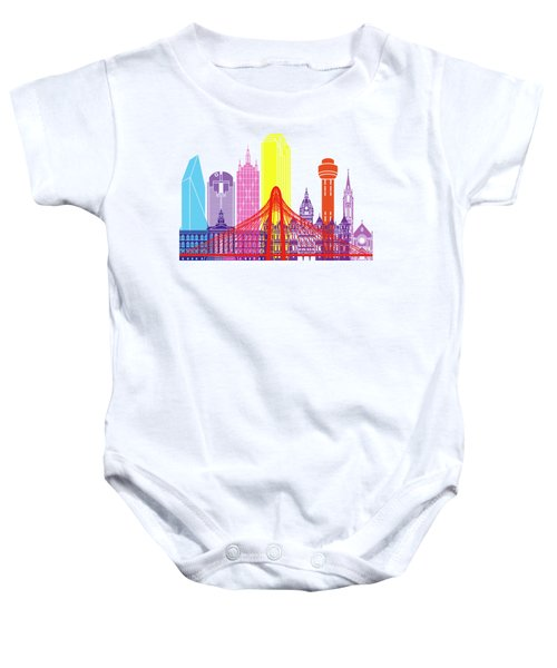 Dallas Skyline Pop Baby Onesie by Pablo Romero