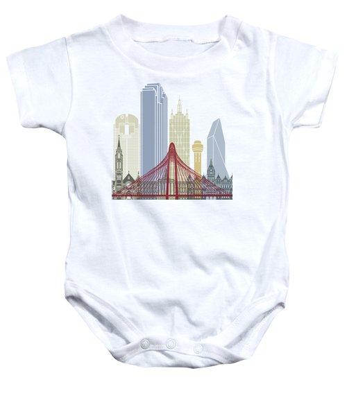 Dallas Skyline Poster Baby Onesie