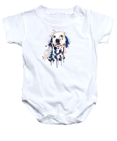 Dalmatian Head Baby Onesie by Marian Voicu