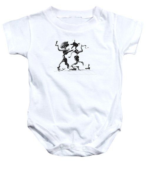 Dancing Couple 1 Baby Onesie