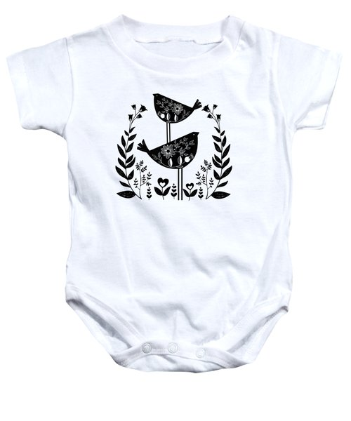 Danish Birds Of Good Luck And Good Life Baby Onesie
