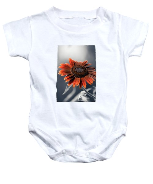 Dark Sunflower Baby Onesie by Konstantin Sevostyanov