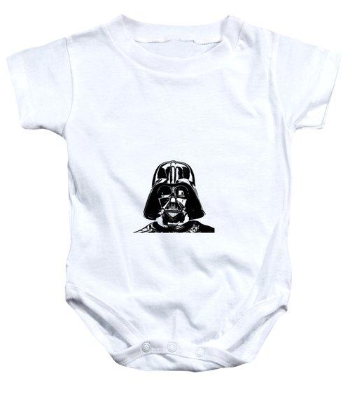 Darth Vader Painting Baby Onesie by Edward Fielding