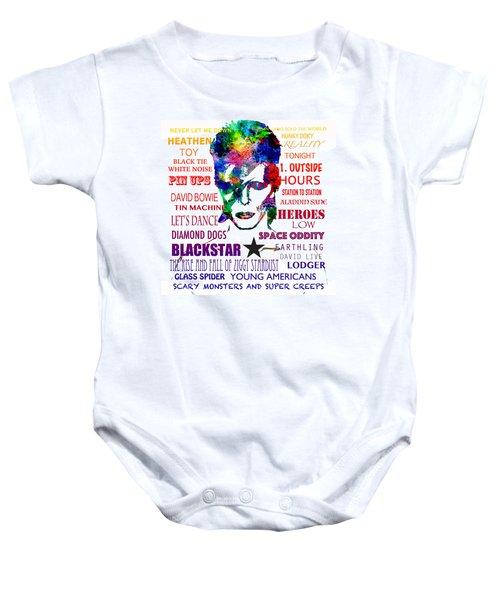 David Bowie Tribute Baby Onesie