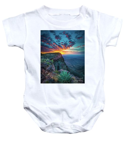 Dawn In The Chisos Baby Onesie