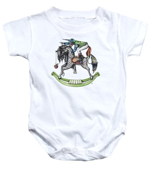 Day At The Races Baby Onesie by Kelly Jade King