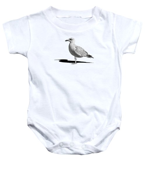 Daydreaming In Black And White Baby Onesie by Gill Billington