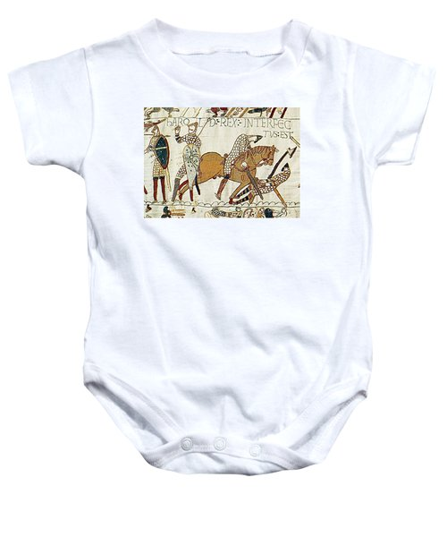 Death Of Harold, Bayeux Tapestry Baby Onesie