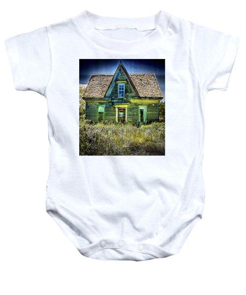 Deer Isle Haunted House Baby Onesie