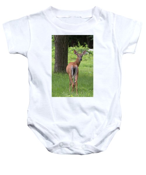 Deer Looking Back Baby Onesie