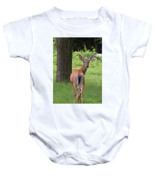 Deer Looking Back Baby Onesie