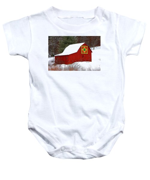 Delectable Mountains Snow Baby Onesie