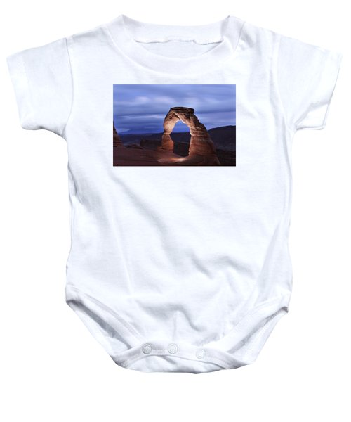 Delicate Arch At Twilight Baby Onesie