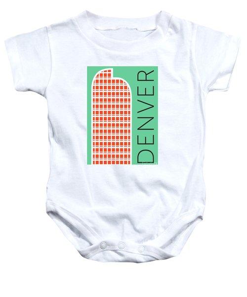 Denver Cash Register Bldg/aqua Baby Onesie