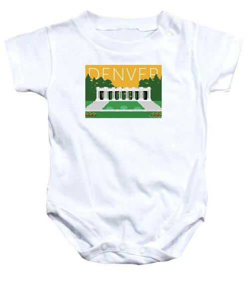 Denver Cheesman Park/gold Baby Onesie