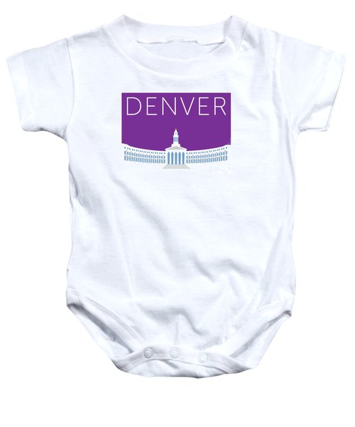 Denver City And County Bldg/purple Baby Onesie