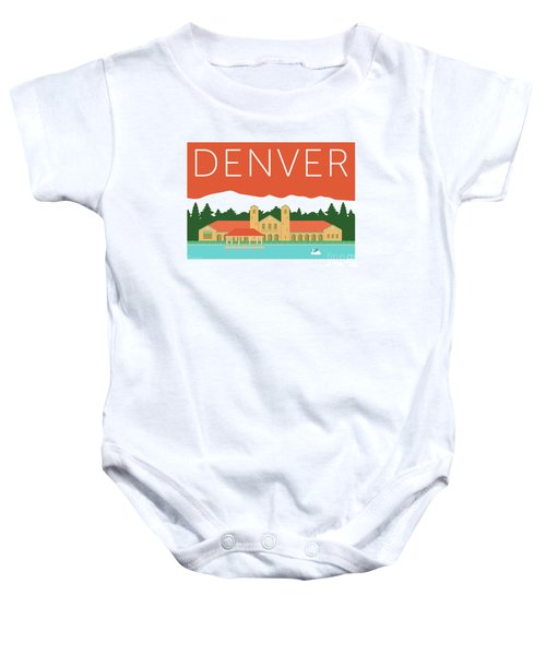 Denver City Park/coral Baby Onesie