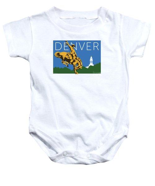 Denver Cowboy/dark Blue Baby Onesie