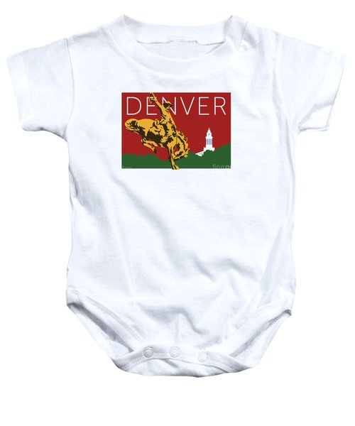 Denver Cowboy/maroon Baby Onesie