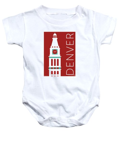 Denver D And F Tower/maroon Baby Onesie