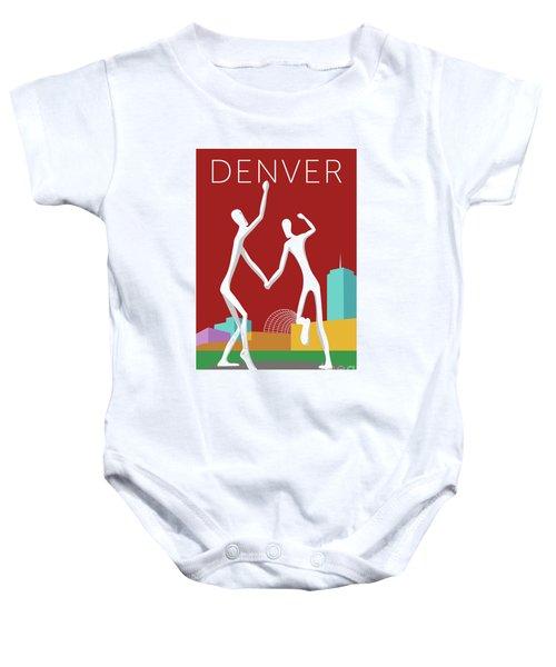 Denver Dancers/maroon Baby Onesie
