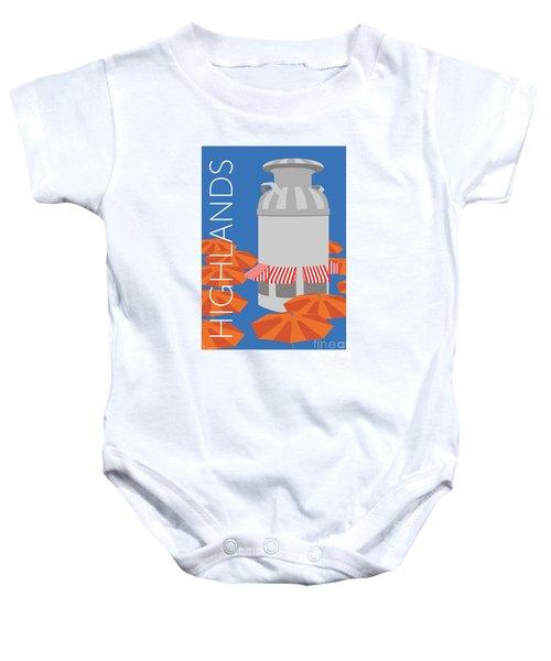 Denver Highlands/blue Baby Onesie
