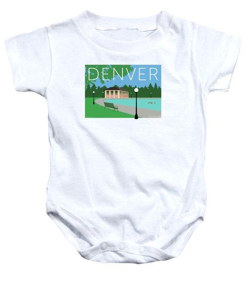 Denver Washington Park/blue Baby Onesie