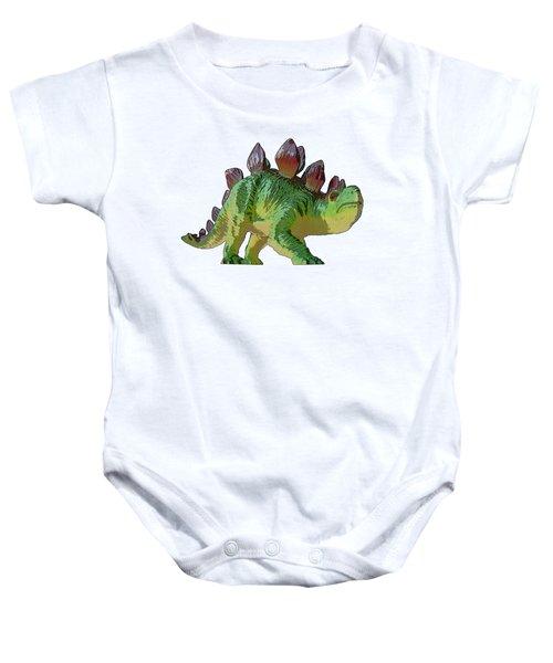 Dino Stegosaurus Baby Onesie by Miroslav Nemecek
