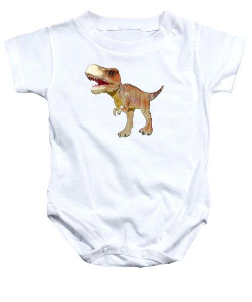 Dino Tyrannosaurus Baby Onesie by Miroslav Nemecek