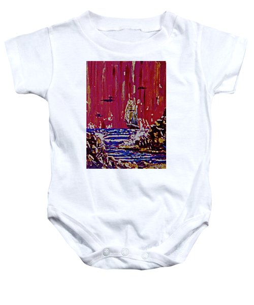 Disaster On The Reef Baby Onesie