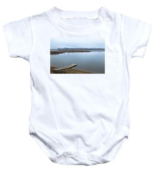 Dock On A Serene Lake Baby Onesie