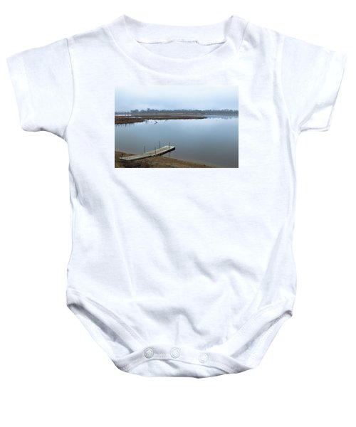 Dock On A Serene Lake Baby Onesie