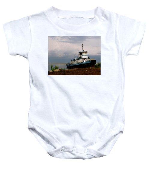 Docked On The Shore Baby Onesie