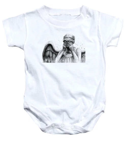 Doctor Who Weeping Angel Don't Blink Baby Onesie