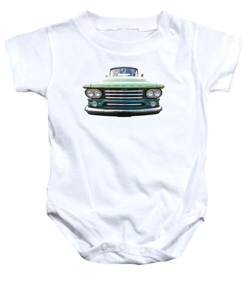 Dodge D100 Sweptside 1958 Baby Onesie
