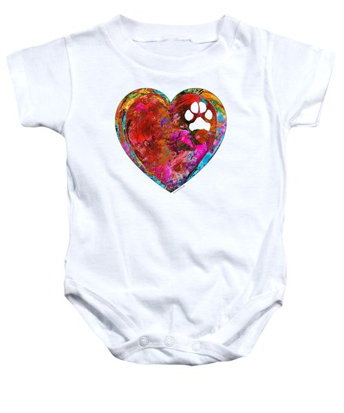 Dog Art - Puppy Love 2 - Sharon Cummings Baby Onesie by Sharon Cummings