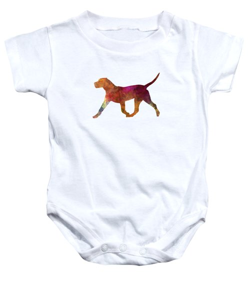 Dogo Canario In Watercolor Baby Onesie by Pablo Romero