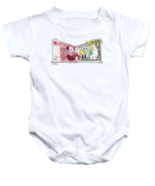 Dollar Vs Yen Baby Onesie