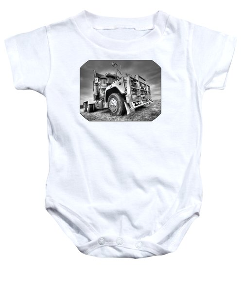 Done Hauling - Black And White Baby Onesie