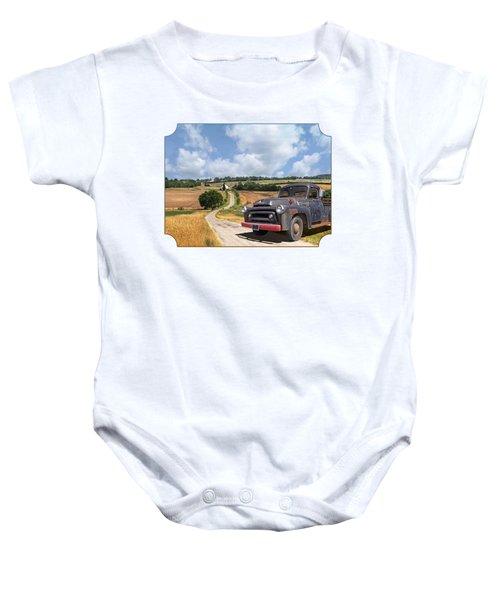 Down On The Farm - International Harvester S-100 Baby Onesie