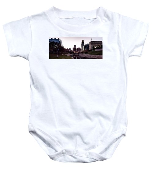 Downtown Omaha At Sunset Baby Onesie