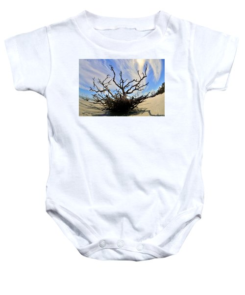 Driftwood And Roots Hunting Island Sc Baby Onesie